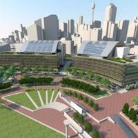 Artist's impression, Commonwealth Bank Place at the Darling Quarter Precinct by Lend Lease and the Sydney Harbour Foreshore Authority