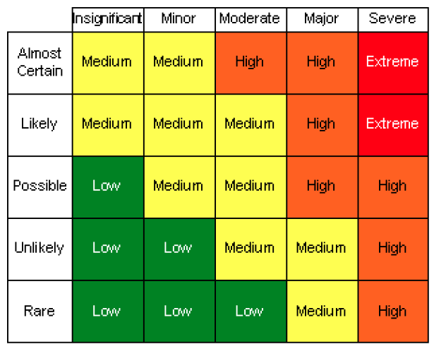 Risk Radial - Risk Matrix