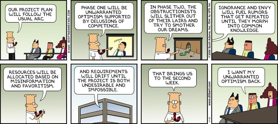 Dilbert Unwarranted Optimism